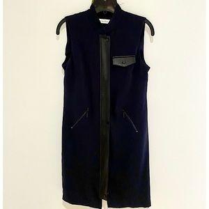 Calvin Klein Front Zip Sheath Dress/Vest